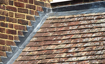 Pitched roof leadwork in Thame