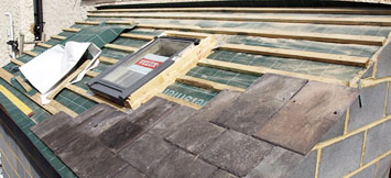 Slating a roof in Amersham
